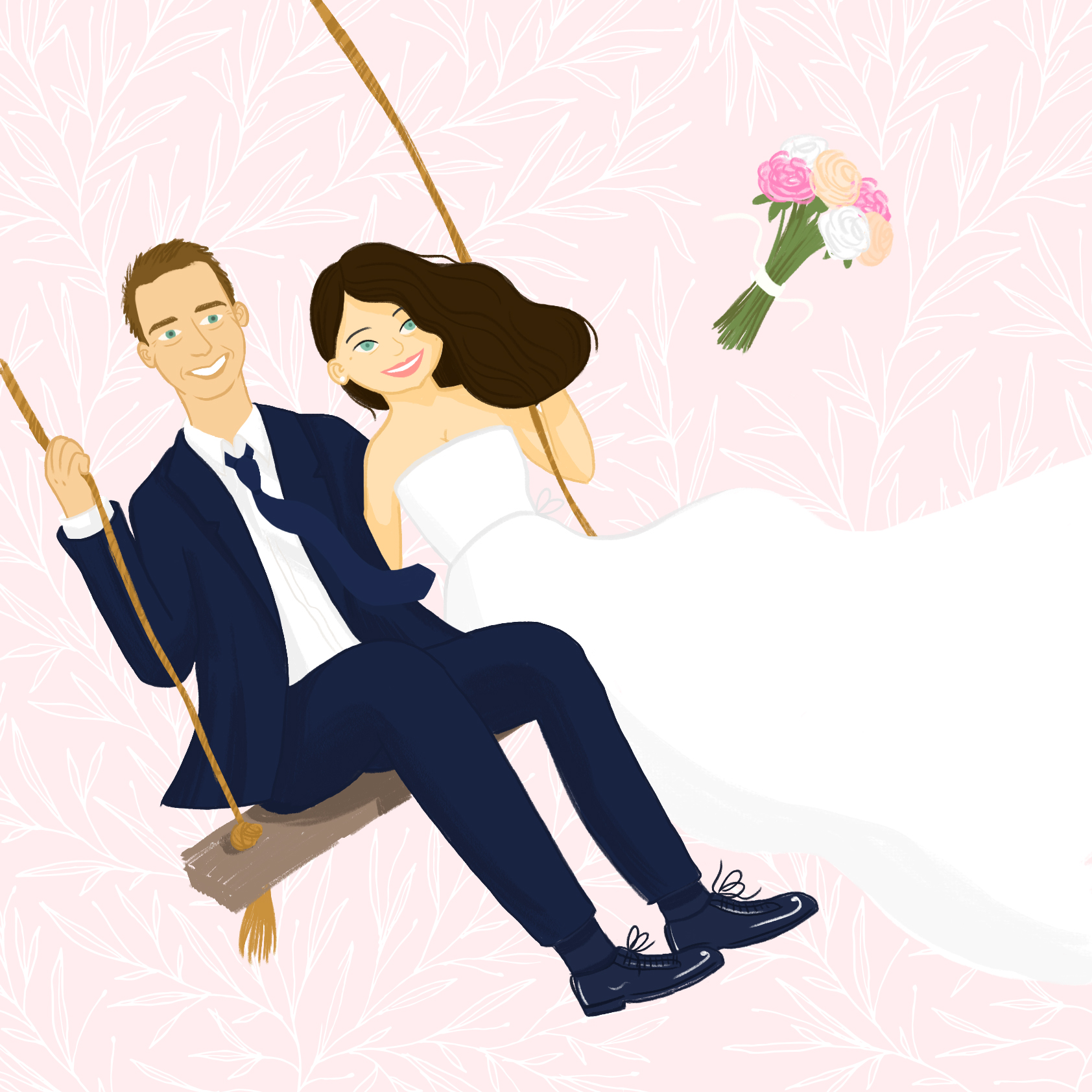 WEDDING INVITATION ILLUSTRATIONS