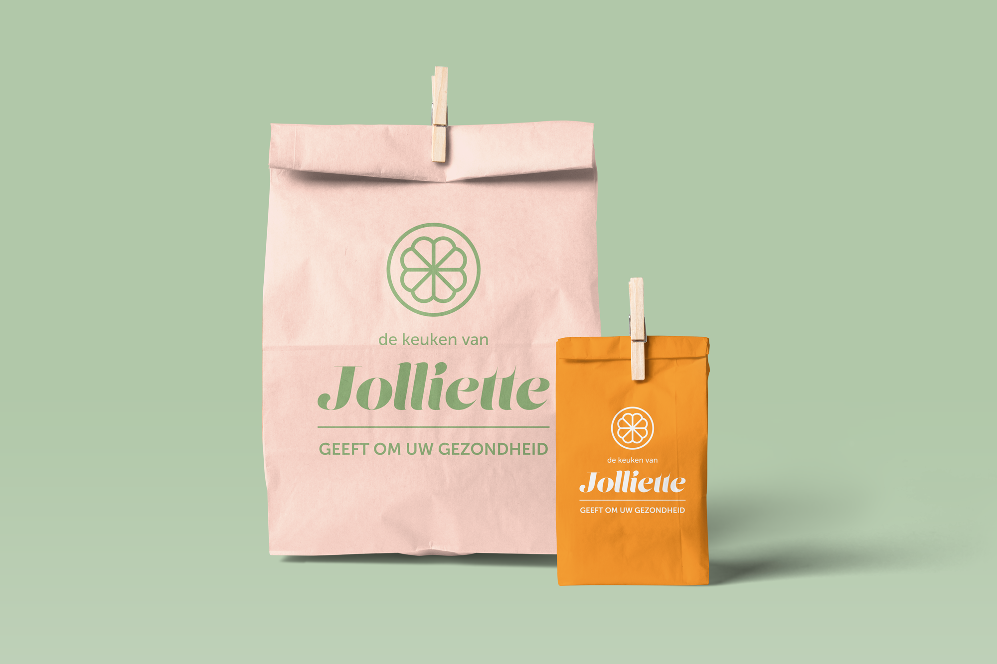 Jolliette pop-up healthy food shop branding packaging design